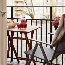 Фотография: Балкон, Терраса в стиле Современный, Малогабаритная квартира, Квартира, Швеция, Дома и квартиры – фото на InMyRoom.ru