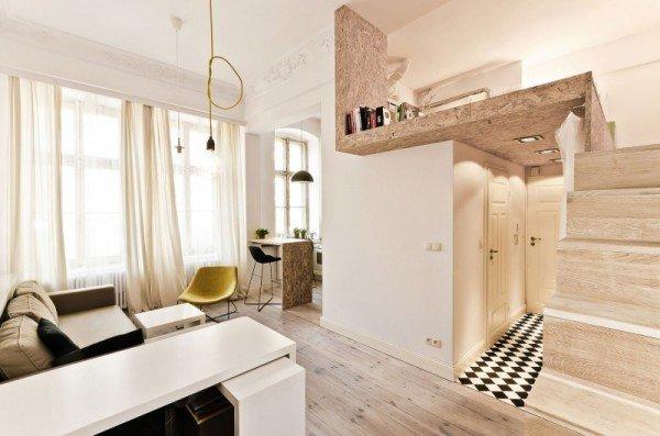 Фотография: Спальня в стиле Лофт, Малогабаритная квартира, Квартира, Дома и квартиры, Минимализм – фото на InMyRoom.ru