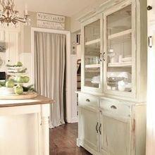 Фотография: Кухня и столовая в стиле Кантри, Декор интерьера, Текстиль, Советы, Шторы, Балдахин – фото на InMyRoom.ru