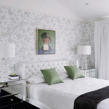 Фотография: Спальня в стиле Современный, Декор интерьера, Декор дома, Цвет в интерьере, Ковер, Геометрия в интерьере – фото на InMyRoom.ru
