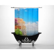 Штора для ванной: Морское побережье