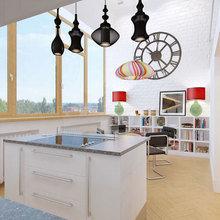 Фото из портфолио Дизайн интерьера двухуровневой квартиры в стиле loft – фотографии дизайна интерьеров на InMyRoom.ru
