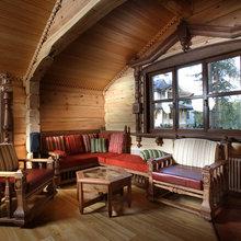 Фотография: Гостиная в стиле Кантри, Декор интерьера, Мебель и свет, Деревенский – фото на InMyRoom.ru