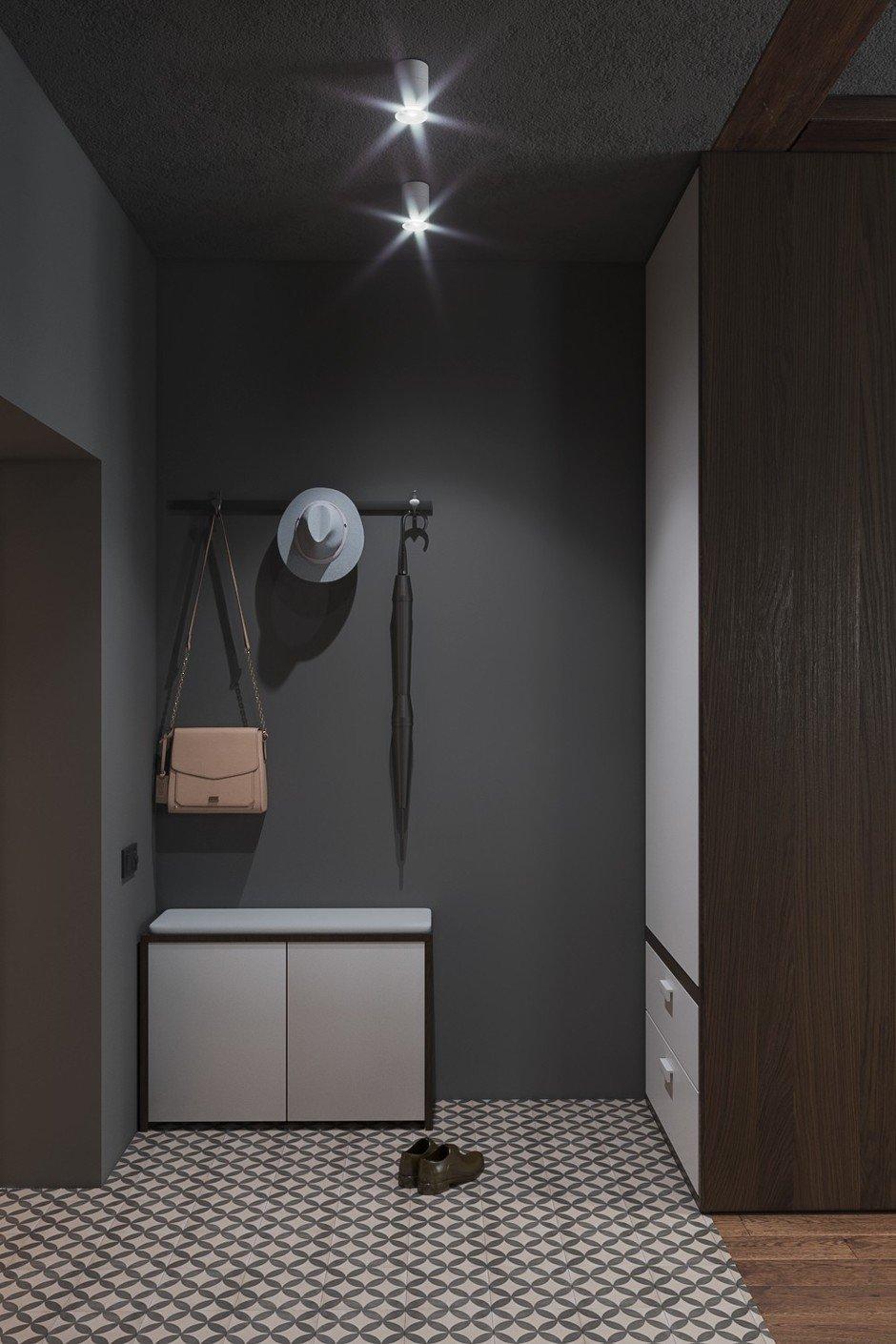 Фотография: Прихожая в стиле Лофт, Квартира, Проект недели, Москва, Монолитный дом, 2 комнаты, 40-60 метров, CENS architects, ЖК «Технопарк» – фото на InMyRoom.ru