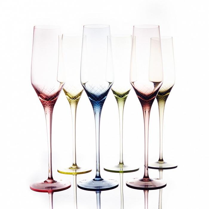 """Набор бокалов для шампанского флюте """"Sera-Irida"""""""