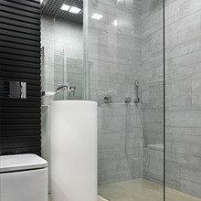Фотография: Ванная в стиле Лофт, Современный, Малогабаритная квартира, Квартира – фото на InMyRoom.ru