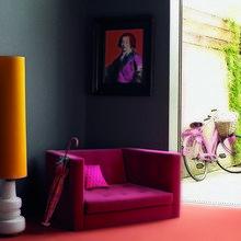 Фотография: Декор в стиле Эклектика, Декор интерьера, Дизайн интерьера, Мебель и свет, Цвет в интерьере, Стены, Розовый, Фуксия – фото на InMyRoom.ru
