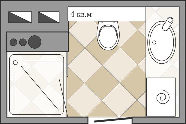 Фотография: Спальня в стиле Скандинавский, Ванная, Перепланировка, ИП-46с, Анастасия Киселева – фото на InMyRoom.ru