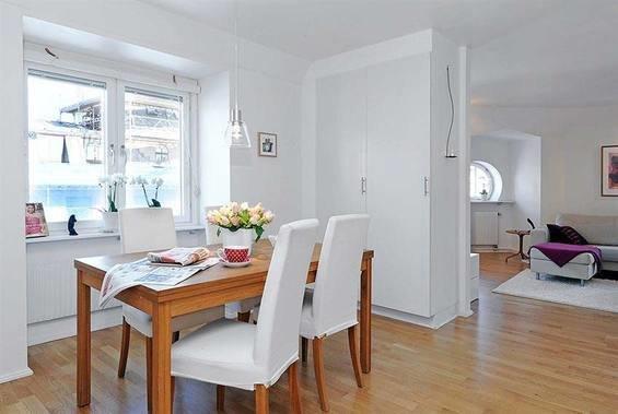 Фотография: Кухня и столовая в стиле Скандинавский, Декор интерьера, Малогабаритная квартира, Квартира, Дома и квартиры – фото на InMyRoom.ru