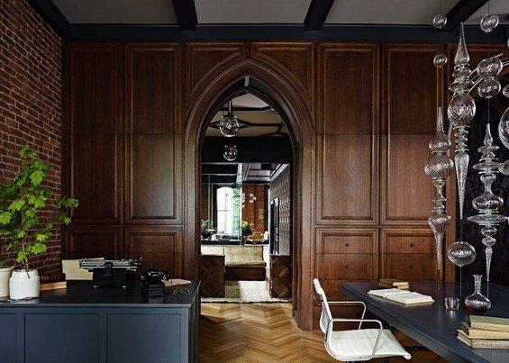 Фотография: Кабинет в стиле Восточный, Эклектика, Офисное пространство, Офис, Дома и квартиры, Готический – фото на INMYROOM