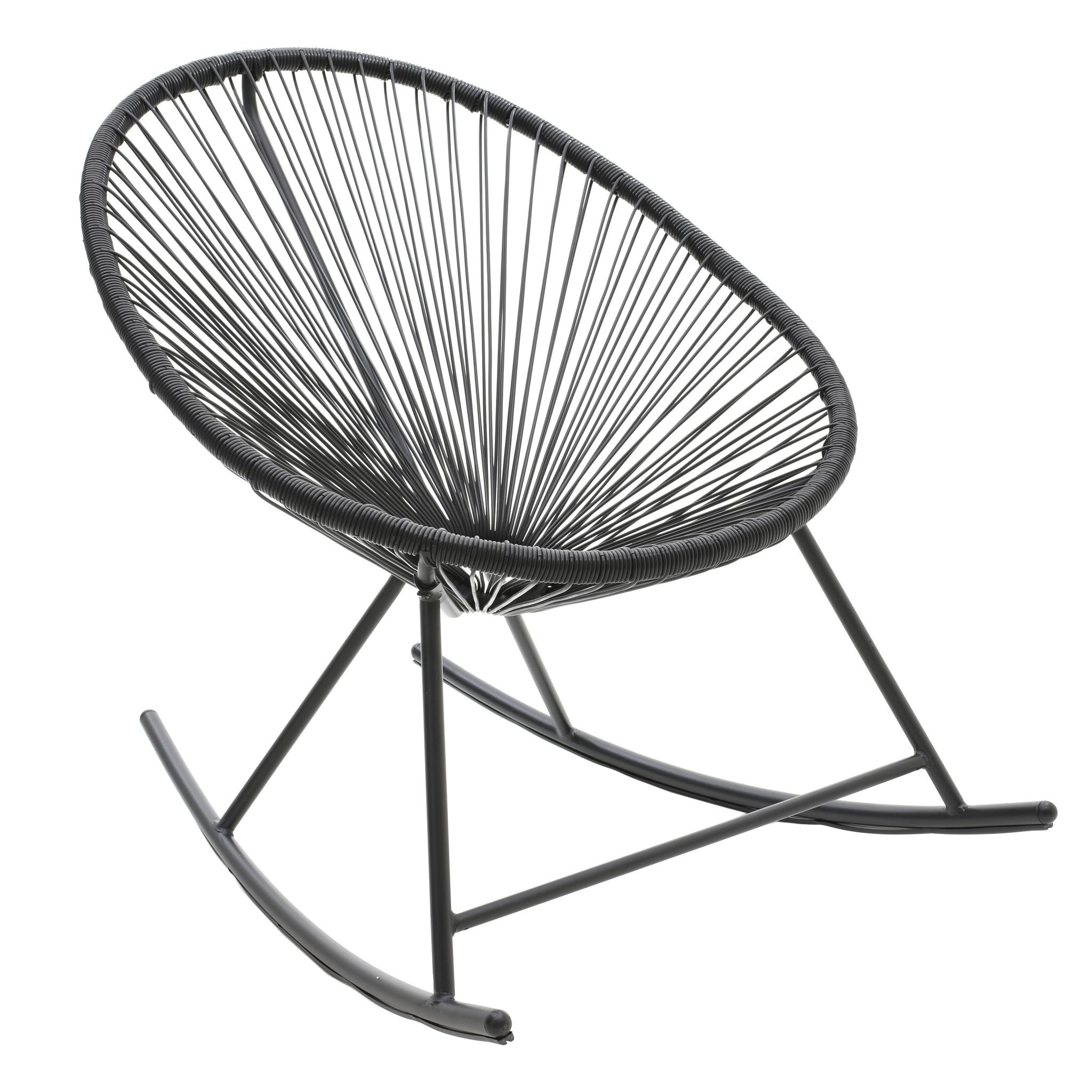 Кресло-качалка черного цвета