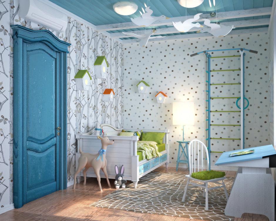 Фотография: Детская в стиле Прованс и Кантри, Квартира, Дома и квартиры, Проект недели, Средиземноморский – фото на InMyRoom.ru