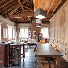 Фотография: Кухня и столовая в стиле Лофт, Квартира, Терраса, Дома и квартиры, Лондон, Мансарда – фото на InMyRoom.ru