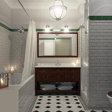 Фотография: Ванная в стиле Лофт, Современный, Квартира, Дома и квартиры, Москва – фото на InMyRoom.ru