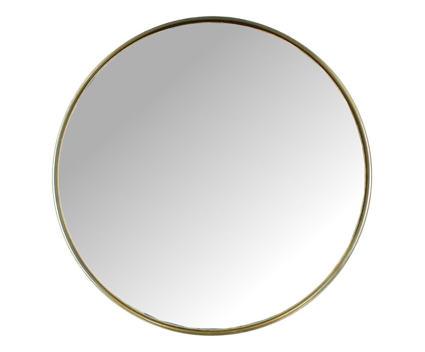 Купить Круглое настенное зеркало в металлической раме, inmyroom, Индия