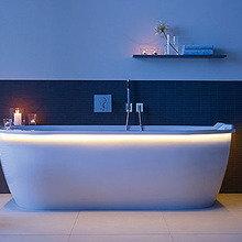 Фотография: Ванная в стиле Минимализм, Интерьер комнат, Подсветка, Ванна – фото на InMyRoom.ru