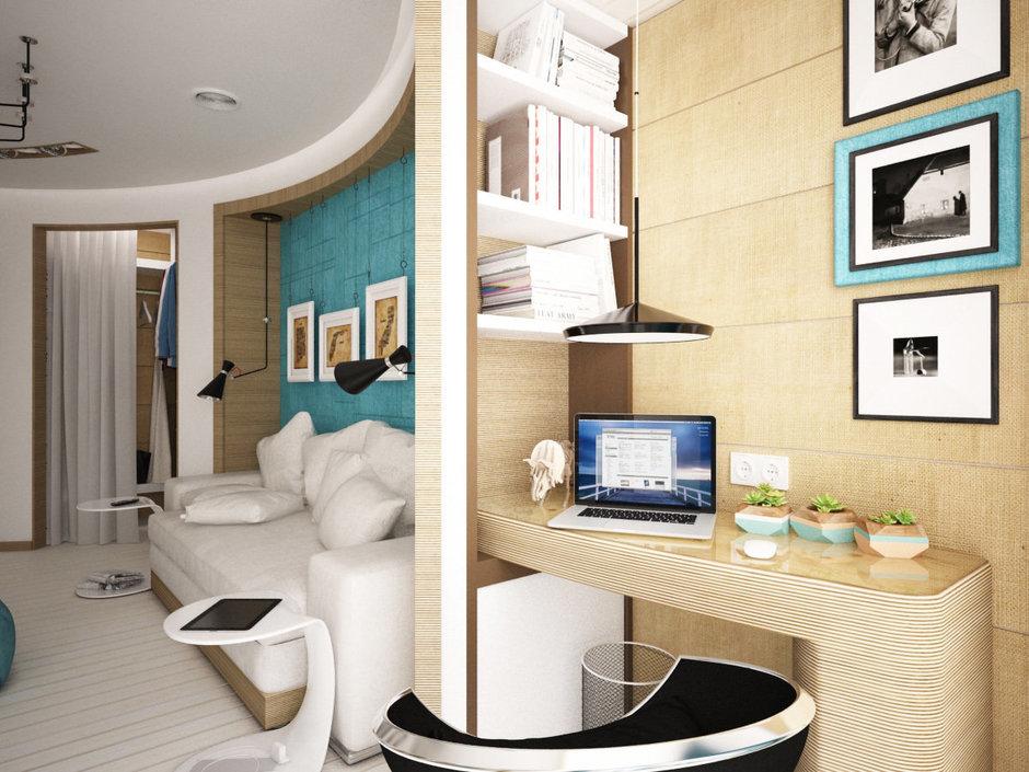 Фотография: Гостиная в стиле Лофт, Современный, Эклектика, Квартира, Перепланировка – фото на InMyRoom.ru