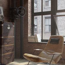 Фотография:  в стиле Лофт, Квартира, Дома и квартиры – фото на InMyRoom.ru