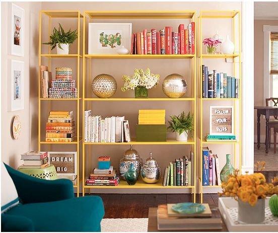 Фотография: Декор в стиле , Декор интерьера, Дизайн интерьера, Цвет в интерьере, Книги – фото на InMyRoom.ru