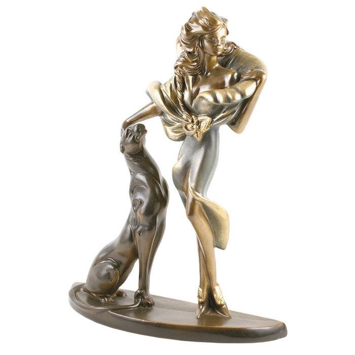 Скульптура Девушка с пантерой