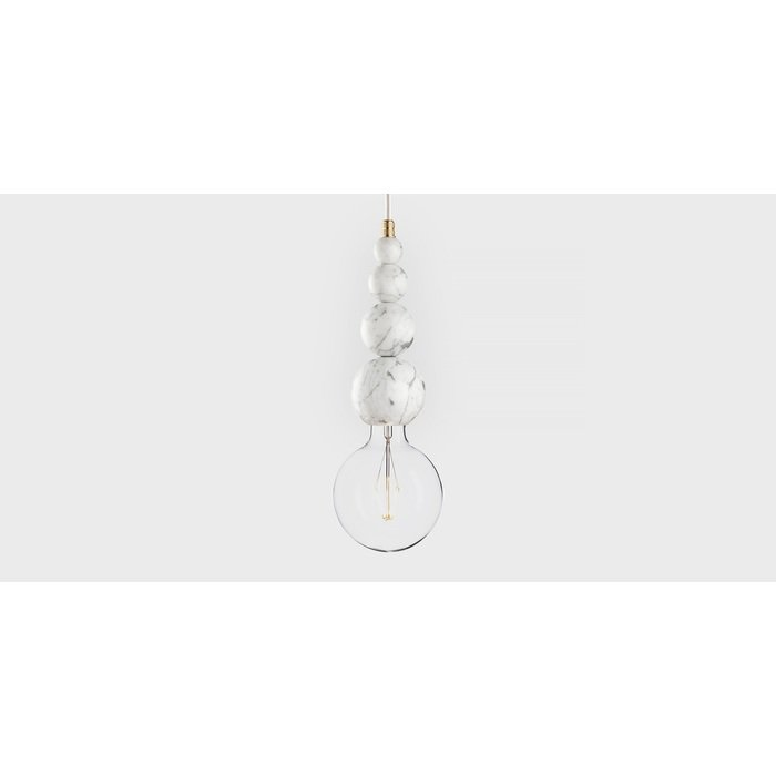 Подвесной светильник из мрамора Marmor Slipp bianco