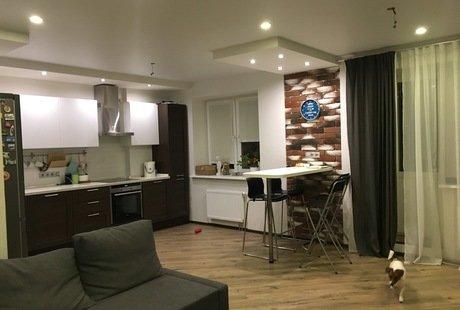 Создание дизайн проекта для кухни-гостиной