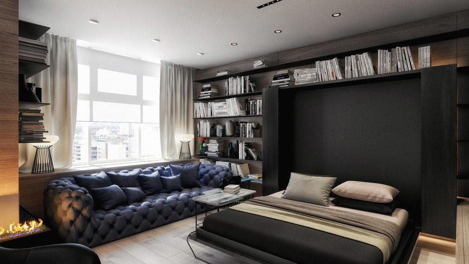 Фотография: Спальня в стиле Современный, Квартира, Проект недели, Москва, 2 комнаты, Более 90 метров, Artstudio – фото на InMyRoom.ru