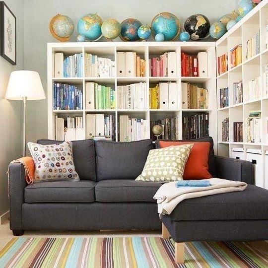 Фотография: Мебель и свет в стиле Современный, Хранение, Стиль жизни, Советы, Библиотека – фото на INMYROOM