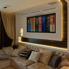 Фотография: Гостиная в стиле Современный, Квартира, Дома и квартиры, Подсветка – фото на InMyRoom.ru
