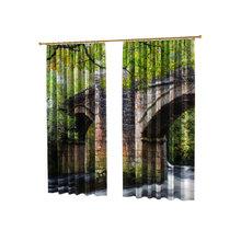Оригинальные фотошторы: Старинный мост