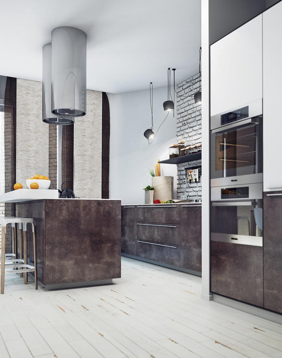Фотография: Кухня и столовая в стиле Лофт, Современный, Декор интерьера, Квартира, Декор, Мебель и свет, Проект недели – фото на InMyRoom.ru