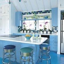 Фотография: Кухня и столовая в стиле Кантри, Эклектика, Декор интерьера, Дизайн интерьера, Цвет в интерьере – фото на InMyRoom.ru