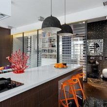 Фотография: Кухня и столовая в стиле Хай-тек, Малогабаритная квартира, Квартира, Дома и квартиры, Перепланировка – фото на InMyRoom.ru