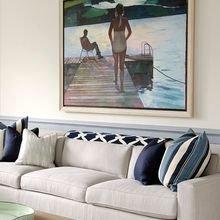 Фотография: Гостиная в стиле Лофт, Декор интерьера, Дизайн интерьера, Декор, Цвет в интерьере, Морской – фото на InMyRoom.ru