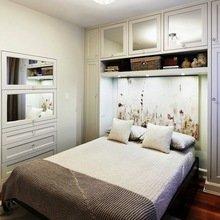 Фотография: Спальня в стиле Кантри, Малогабаритная квартира, Квартира, Дома и квартиры – фото на InMyRoom.ru