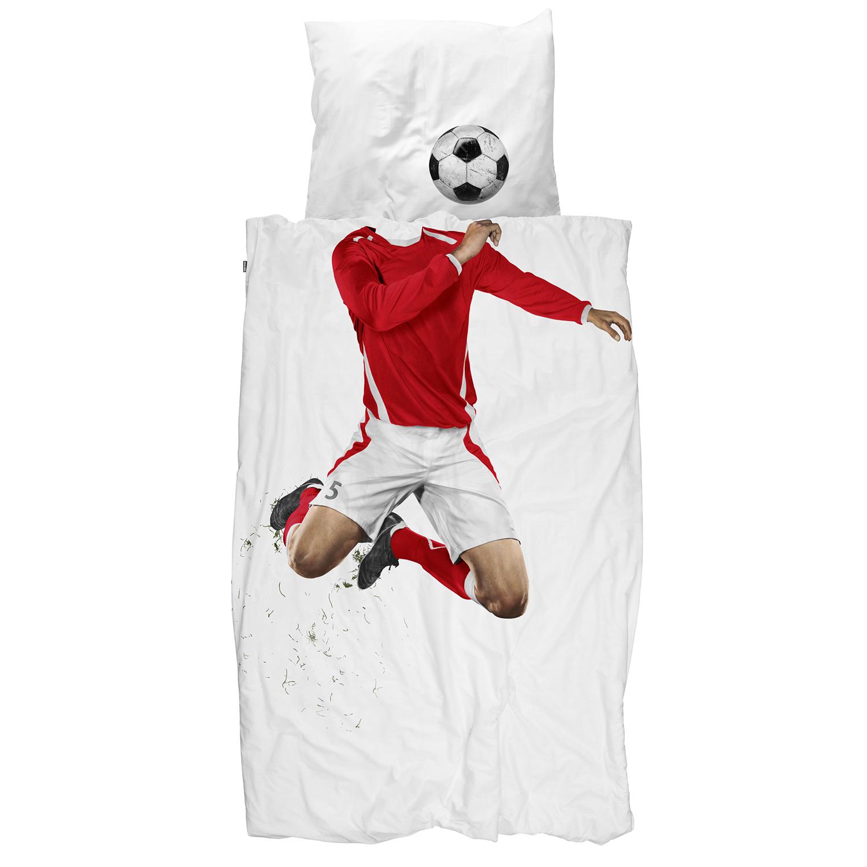 Комплект постельного белья Футболист красный 150х200
