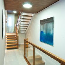 Фотография:  в стиле Современный, Дом, Планировки, Мебель и свет, Дома и квартиры, Мансарда – фото на InMyRoom.ru