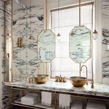 Фотография: Ванная в стиле Кантри, Декор интерьера, Квартира, Декор, Советы, раковина, раковина в ванной – фото на InMyRoom.ru