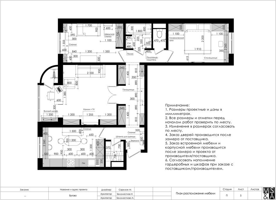 Фотография: Планировки в стиле , Квартира, Проект недели, Марина Саркисян, Московская область, 3 комнаты, 60-90 метров, Монолитно-кирпичный – фото на InMyRoom.ru