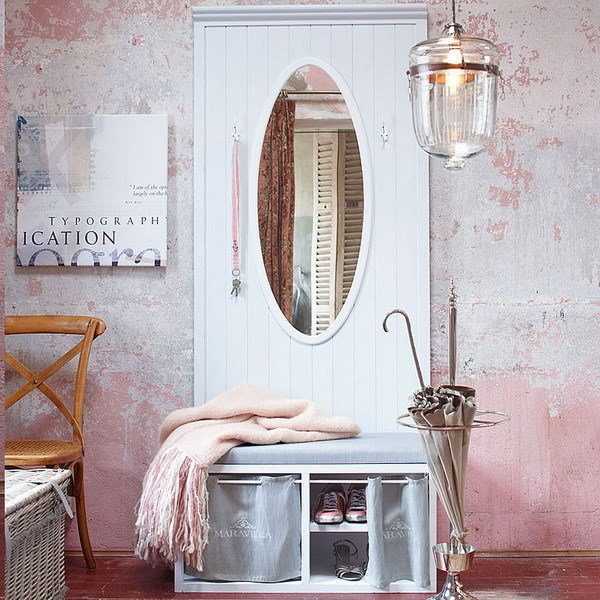 Фотография: Прихожая в стиле , Декор интерьера, Дизайн интерьера, Цвет в интерьере, Белый – фото на InMyRoom.ru