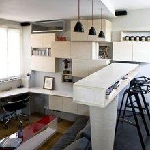Фотография: Офис в стиле Современный, Малогабаритная квартира, Квартира, Дома и квартиры, Мебель-трансформер – фото на InMyRoom.ru