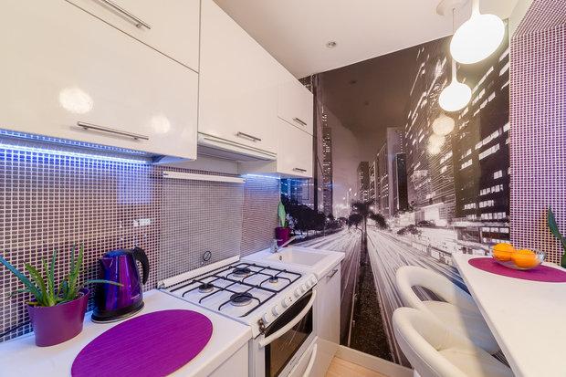 Фотография: Кухня и столовая в стиле Современный, Малогабаритная квартира, Квартира, Дома и квартиры, Минимализм – фото на InMyRoom.ru