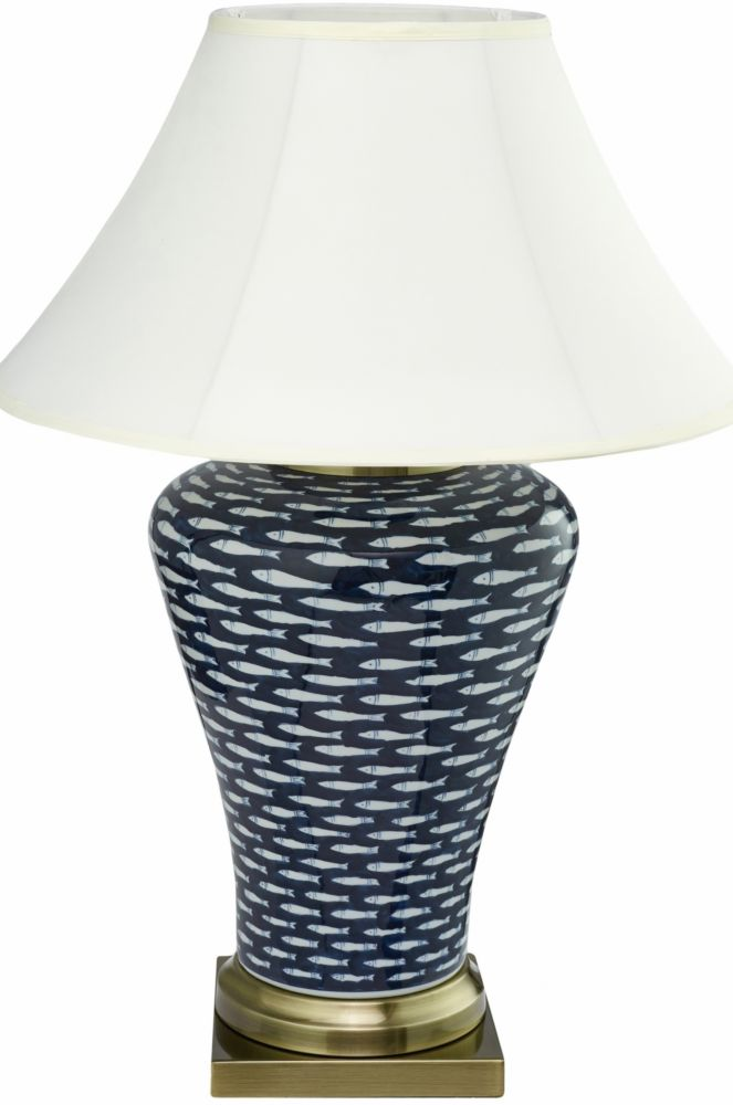 Купить Керамическая настольная лампа с белым абажуром, inmyroom