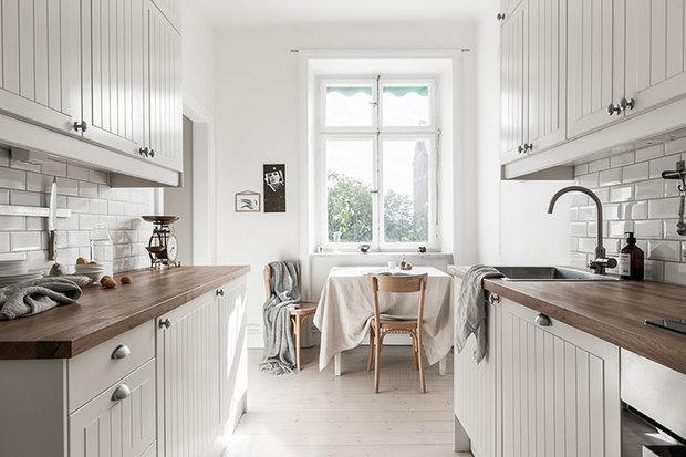 Фотография: Кухня и столовая в стиле Скандинавский, Малогабаритная квартира, Квартира, Гид – фото на InMyRoom.ru