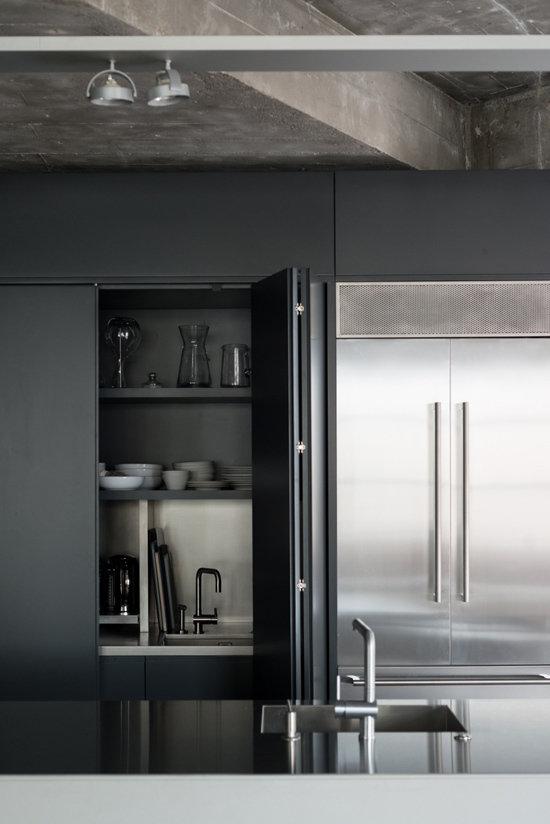 Фотография: Кухня и столовая в стиле Современный, Лофт, Квартира, Дома и квартиры, Проект недели – фото на InMyRoom.ru