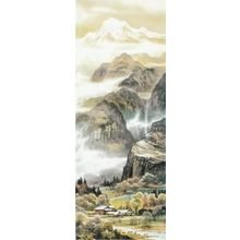 """Красивый диптих на холсте """"Живописный край"""""""