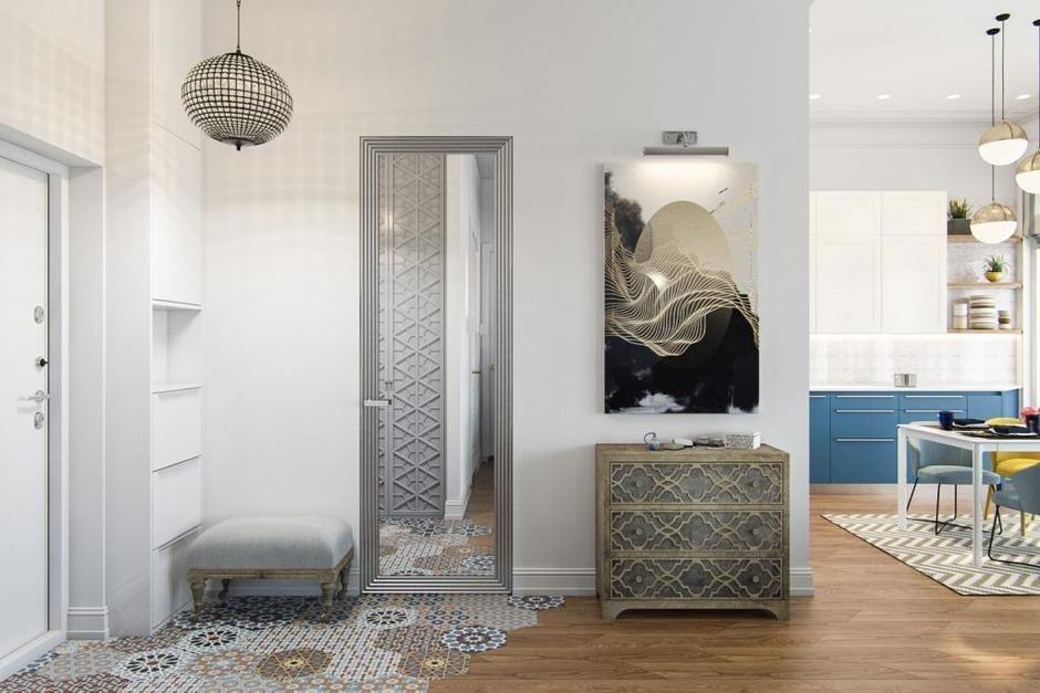 Фотография: Прихожая в стиле Современный, Квартира, Проект недели, Москва, Монолитный дом, 3 комнаты, 60-90 метров, Алена Чекалина – фото на InMyRoom.ru