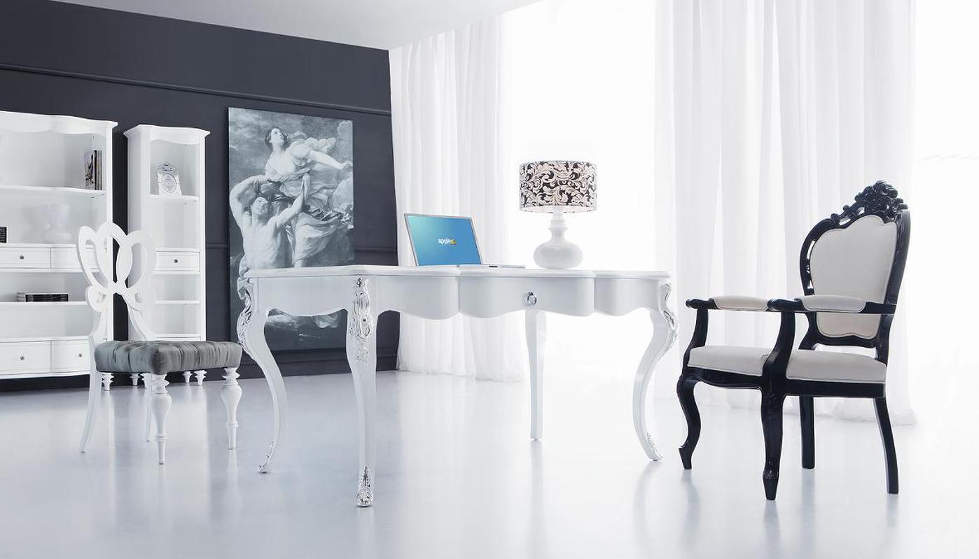 """Купить со скидкой Письменный стол Fratelli Barri """"Rimini"""" из высококачественного мдф высокой плотности и массива дерев"""
