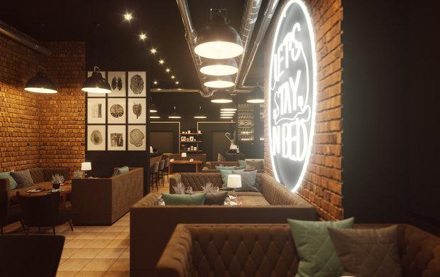 Фото из портфолио Кальянная – фотографии дизайна интерьеров на INMYROOM