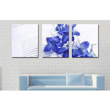 Модульная картина от дизайнера: Синяя катлея